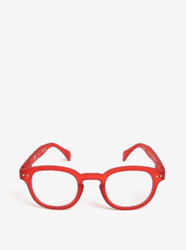 Červené unisex ochranné okuliare k PC IZIPIZI #C
