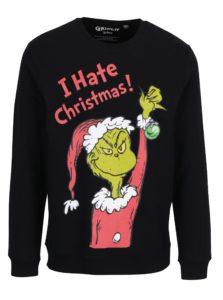 Čierna mikina s vianočným motívom ONLY & SONS Grinch