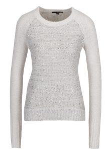 Krémový sveter s flitrami TALLY WEiJL