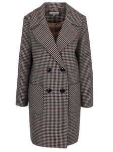 Krémový vzorovaný dlhý kabát Miss Selfridge