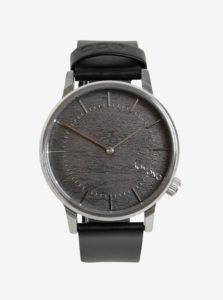 Pánske hodinky v striebornej farbe s koženým remienkom Komono Winston