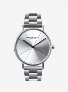 Unisex hodinky v striebornej farbe LARSEN & ERIKSEN 37 mm