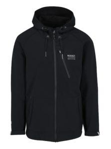 Čierna pánska softshellová vodovzdorná bunda s kapucňou NUGGET Nano
