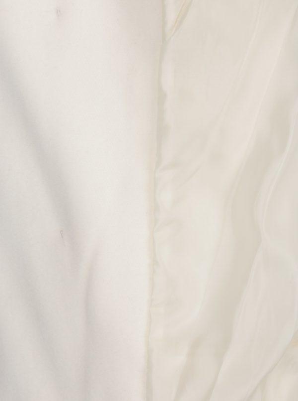 Krémový kabát s gombíkmi v zlatej farbe ZOOT