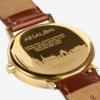 Unisex hodinky v zlatej farbe s hnedým koženým remienkom LARSEN & ERIKSEN  37 mm