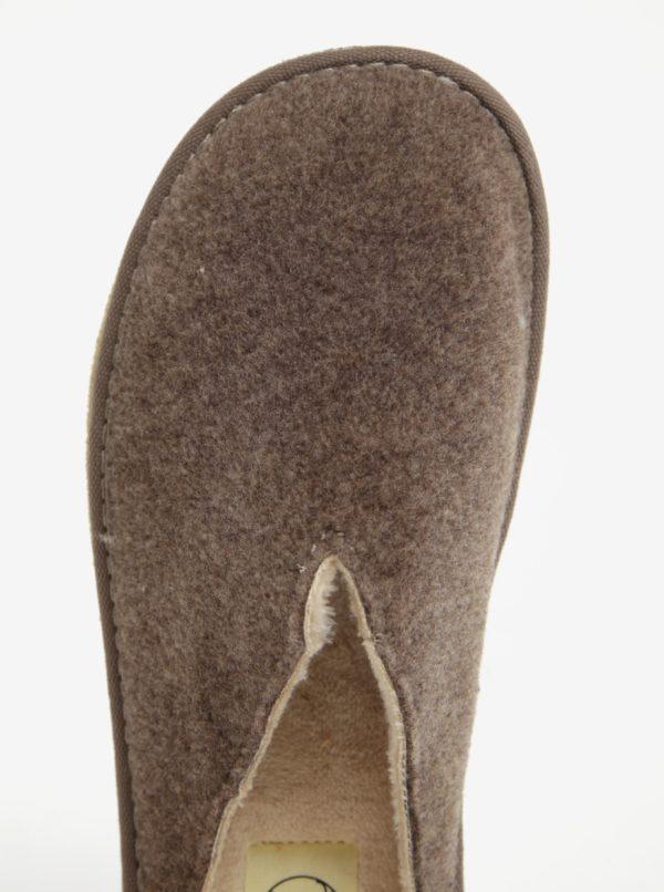 Hnedé dámske papuče OJJU