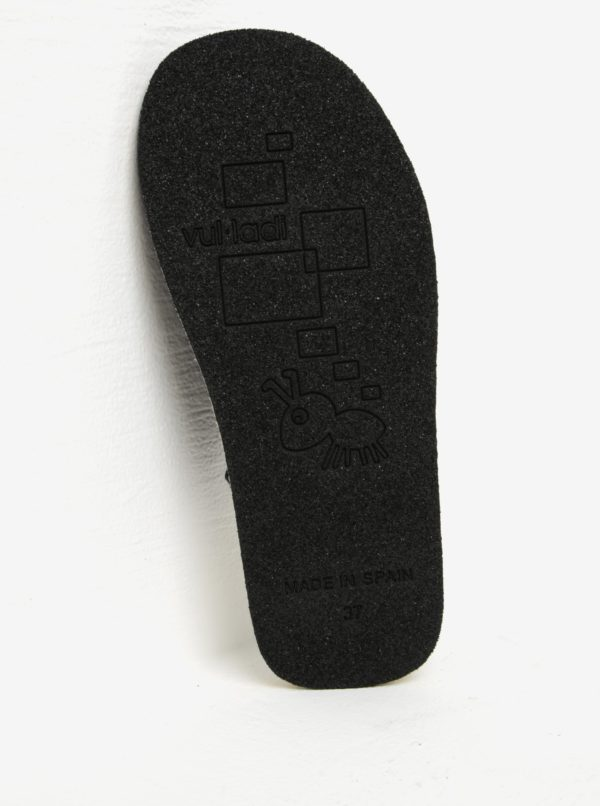Čierne dámske semišové papuče OJJU