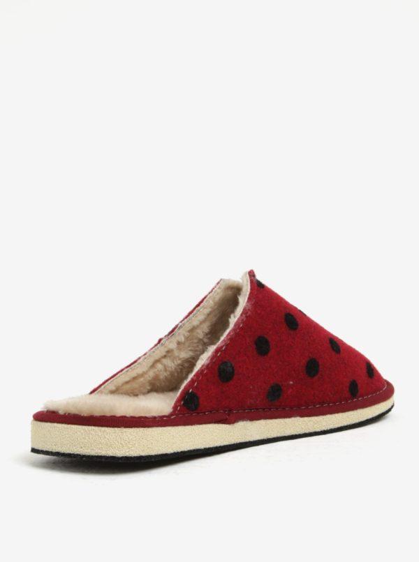 991dd87df985 Červené bodkované papuče OJJU