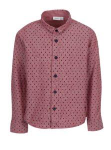 Ružová chlapčenská bodkovaná košeľa name it Ilasy