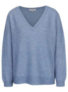 Svetlomodrý melírovaný vlnený sveter Selected Femme Livana