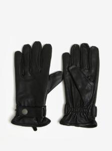 Čierne kožené rukavice Lindbergh