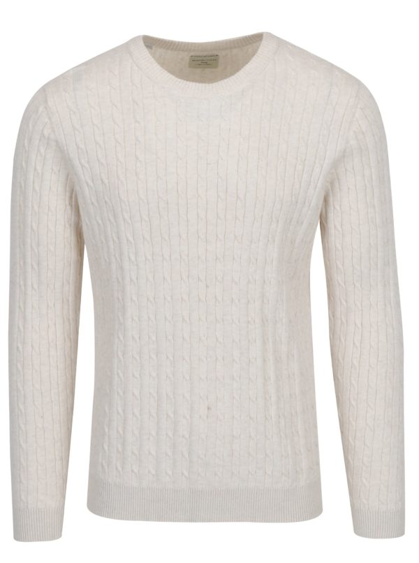 Béžový sveter Selected Homme Clayton