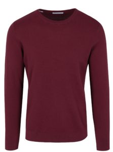 Vínový tenký sveter Selected Homme Damian