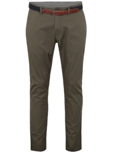 Kaki slim fit chino nohavice Selected Homme Yard