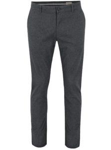 Sivé vzorované slim fit nohavice Selected Homme Rolf
