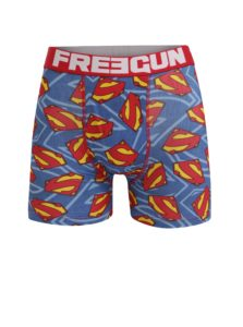 Červeno-modré pánske boxerky Superman Freegun