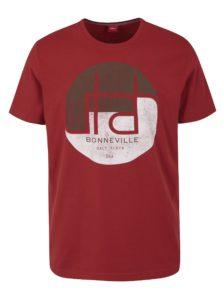 Tehlové pánske regular fit tričko s potlačou s.Oliver