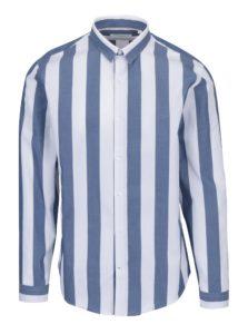 Bielo-modrá pruhovaná košeľa Lindbergh