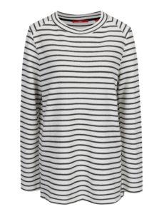 Čierno-krémové dámske pruhované tričko s.Oliver
