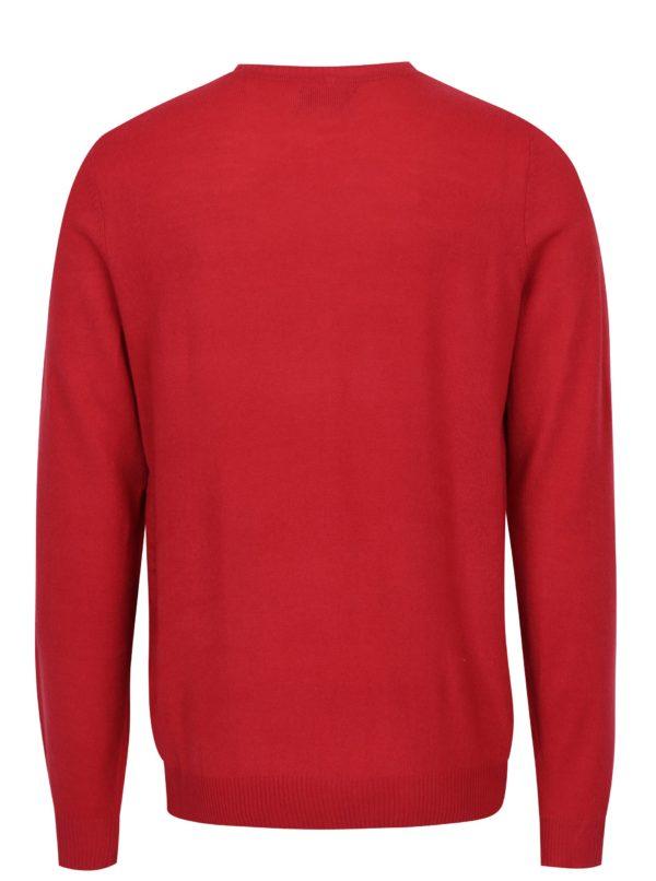 Červený vzorovaný sveter Blend