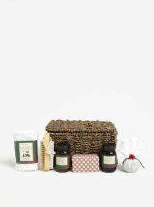 Šesťdielna darčeková kozmetická súprava v košíku Fikkerts