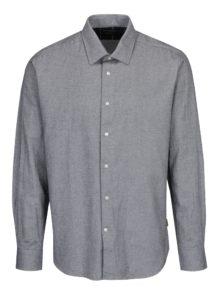 Čierno-krémová vzorovaná tailored fit košeľa Barbour Sween