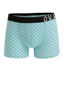 Zelené pánske bodkované boxerky El.Ka Underwear