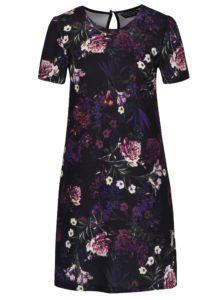 Čierne kvetinové šaty s krátkym rukávom Dorothy Perkins