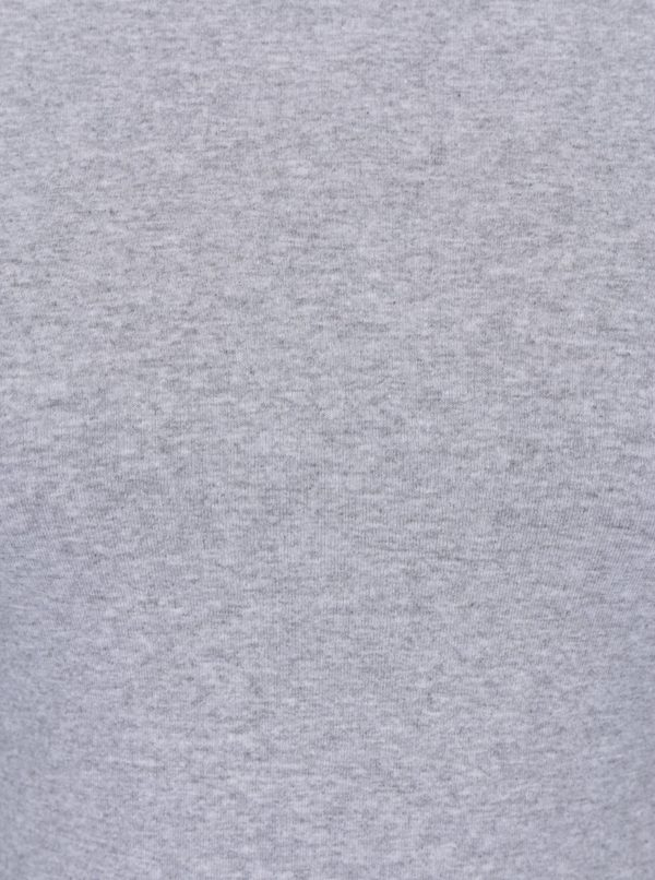 Sivé tričko s okrúhlym výstrihom ZOOT