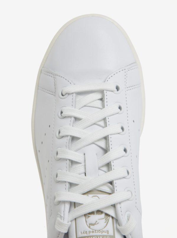 Biele pánske kožené tenisky adidas Originals Stan Smith
