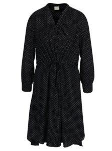 Čierne bodkované šaty Selected Femme Damina