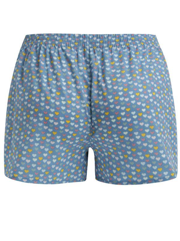 Modré dámske trenírky so srdiečkami El.Ka Underwear