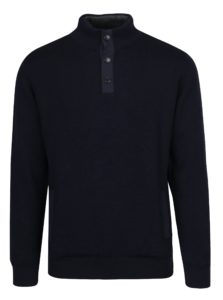 Tmavomodrý vlnený sveter Barbour Spate