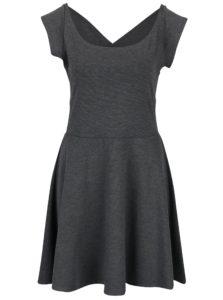 Sivé šaty s pásikmi na chrbte ZOOT