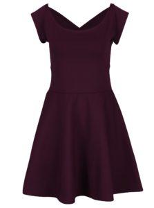 Fialové šaty s pásikmi na chrbte ZOOT