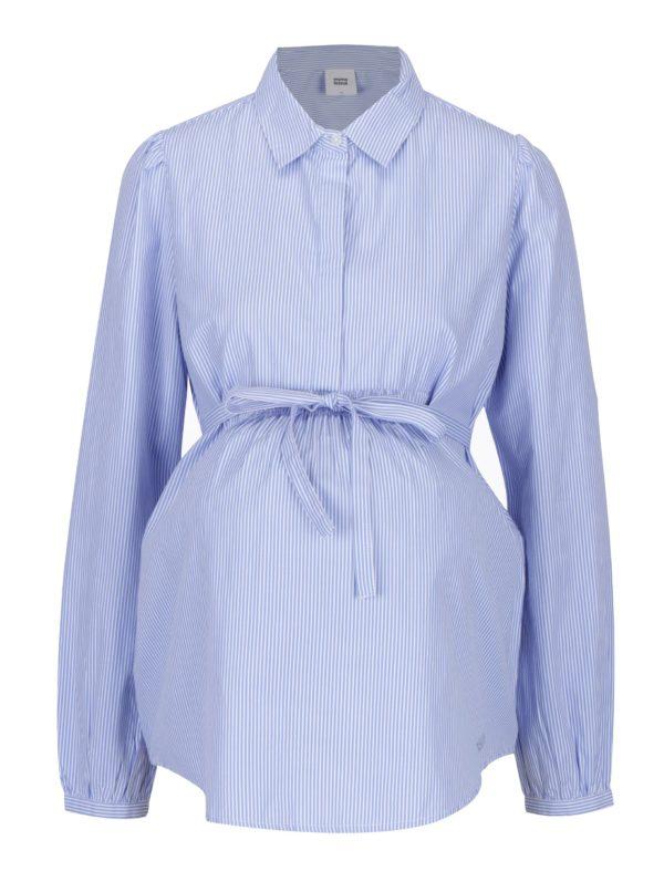 Modro-biela pruhovaná tehotenská košeľa Mama.licious Abanda