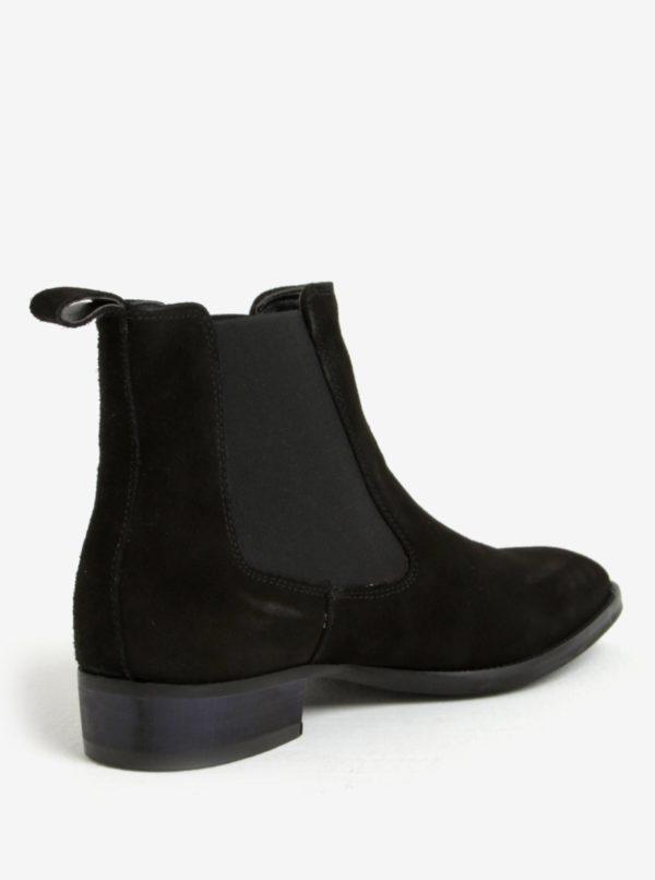 Čierne pánske semišové chelsea topánky ALDO Oneillan