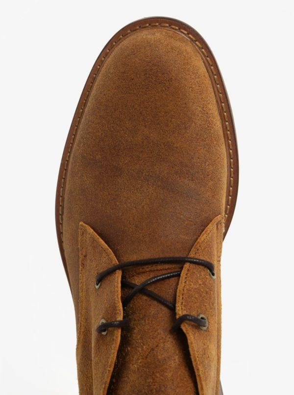 c8d777242219 Hnedé pánske kožené členkové topánky ALDO Hathcyn