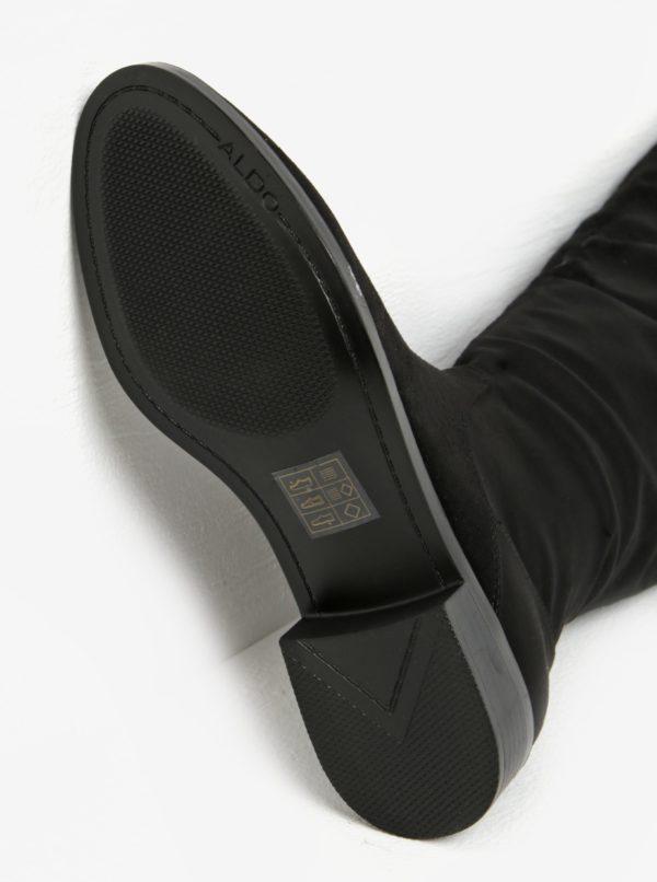 Čierne čižmy v semišovej úprave ALDO Catera
