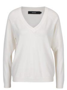 Krémový sveter s véčkovým výstrihom VERO MODA Karis