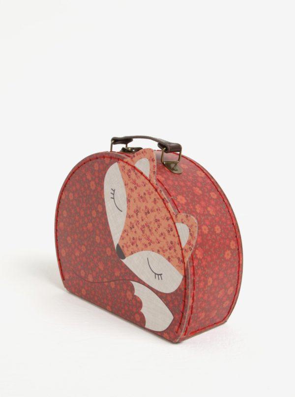 Súprava dvoch červených kufríkov v tvare líšky Sass & Belle