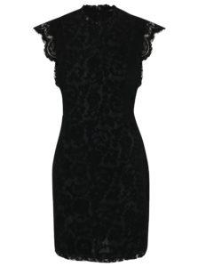 Čierne čipkované šaty ONLY Sage