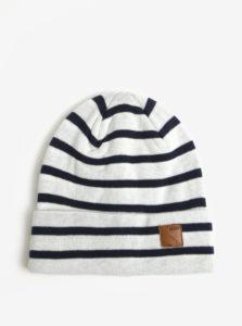 Krémová chlapčenská vzorovaná čiapka name it Mons