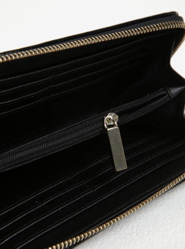 Čierna lesklá peňaženka s detailmi v zlatej farbe Juno  ea4b8527e7f