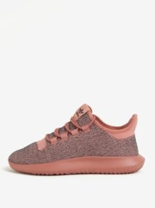 Sivo–ružové dámske tenisky adidas Originals Tubular Shadow