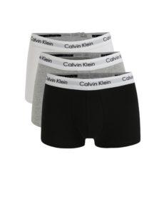 Súprava troch classic fit boxeriek v čiernej, bielej a sivej farbe Calvin Klein Underwear