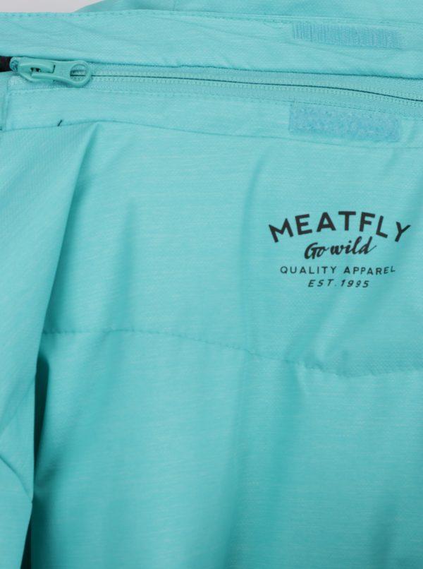 Mentolová dámska zimná funkčná vodovzdorná bunda Meatfly Fluffy
