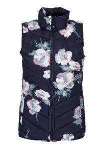 Tmavomodrá dámska kvetovaná vesta Tom Joule Highgrove