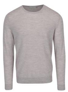 Krémový melírovaný sveter z Merino vlny Jack & Jones Premium Mark