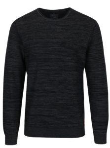 Sivý melírovaný slim fit sveter Blendlim fit svetr Blend